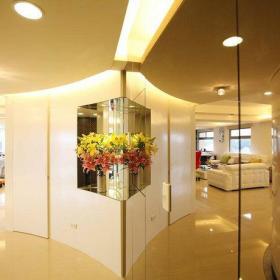 现代简约客厅玄关玄关柜设计案例展示