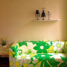 清新沙发桌子摆件设计图