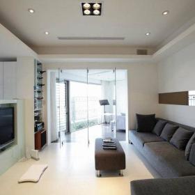 客厅休闲区玻璃门设计案例