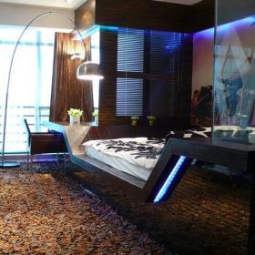 酷炫玻璃叠加空间 39平前卫单身小户