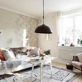客厅壁纸铁艺灯灯具案例展示
