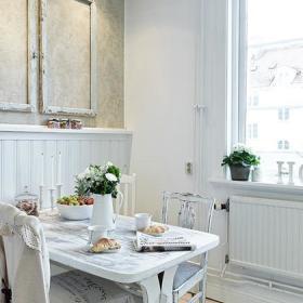 精致复古餐厅壁纸木相框案例展示