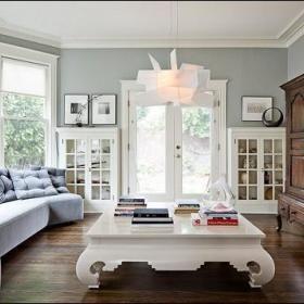 欧式混搭时尚客厅沙发茶几布艺沙发门窗设计图