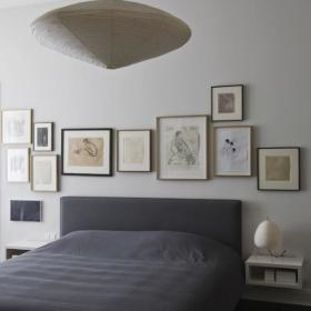 简约温馨卧室大床图片