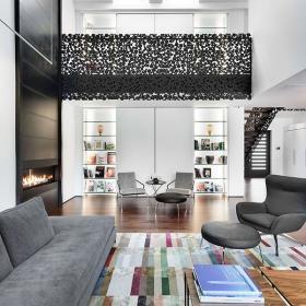 客厅沙发单人沙发灯具设计案例
