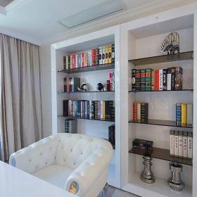 现代简约书房收纳装修案例