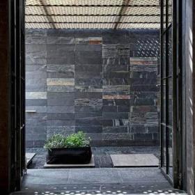 中式自然现代中式风格卧室射灯装饰品装修效果展示