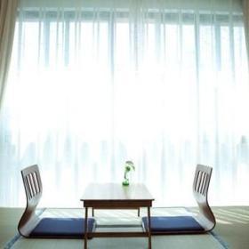 清新休闲区窗帘椅装修图