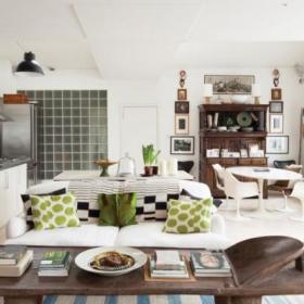 温馨客厅厨房木地板设计方案