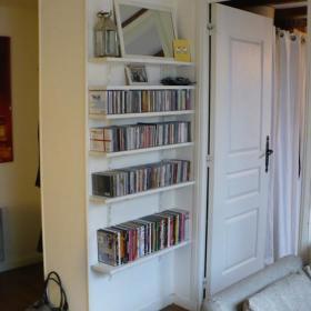 现代简约书房收纳设计图
