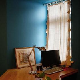 窗帘写字台设计方案