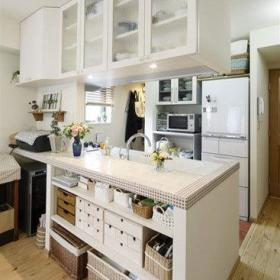 厨房植物柜子装修效果展示