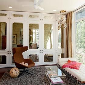 8种客厅飘窗布置法 闲看庭前田园风情