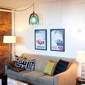 清新客厅沙发布沙发效果图