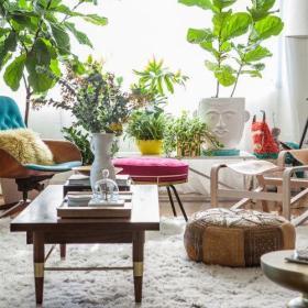 清新植物桌子脚凳设计方案