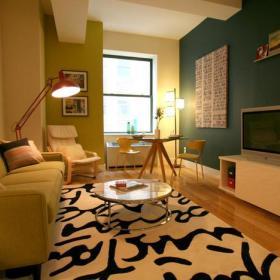 现代简约现代简约温馨一居室一居案例展示