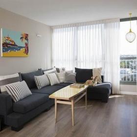 清新复古现代古典时尚客厅沙发设计案例展示