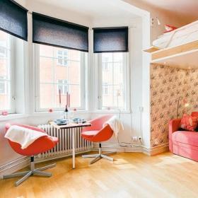浪漫客厅阳台吧台茶几椅设计案例展示