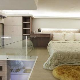 33平现代简约阁楼卧室装修效果图