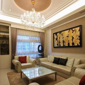 455平方米美式混搭别墅客厅装修效果图