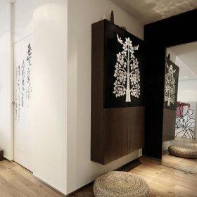 现代简约玄关玄关镜玄关柜设计案例展示