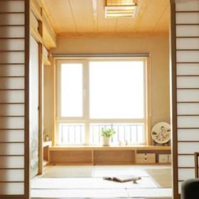 日式阳台榻榻米植物桌子装饰品设计案例
