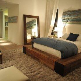自然卧室木床设计方案