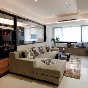 15年老房翻新 69.3平简约风格两室两厅装修效果图