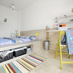 日式自然日式风格卧室床架设计图