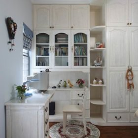 衣柜转角书台案例展示