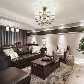 美式卧室沙发单人沙发装修图
