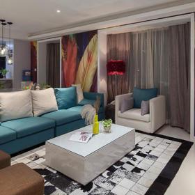 客厅沙发单人沙发装修案例