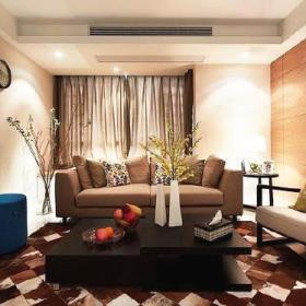 现代时尚浪漫客厅卧室餐厅卫生间装修图