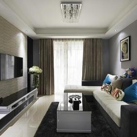 客厅背景墙沙发电视柜茶几设计方案