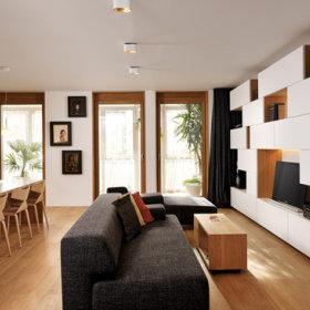 客厅二居玻璃门效果图
