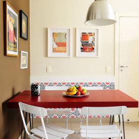 简约餐桌椅折叠椅装修效果展示