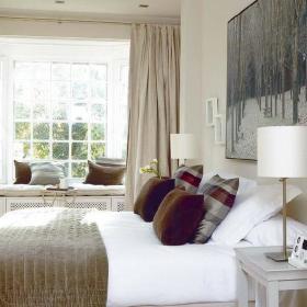 现代现代风格卧室背景墙设计图
