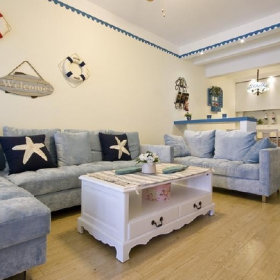 地中海地中海风格沙发布艺沙发设计方案
