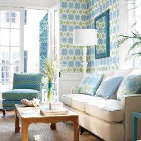 迎接夏天  八款清新凉爽的客厅设计