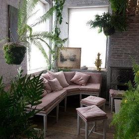 田园花园沙发植物设计方案
