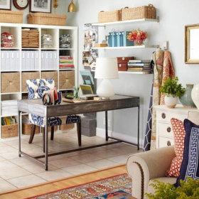 田园混搭清新自然复古办公室实木家具装饰品设计方案