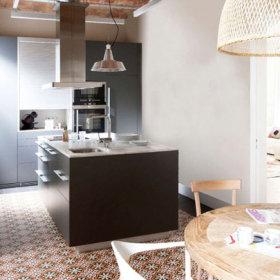 现代厨房吧台装修图