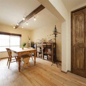 欧式田园清新自然浪漫窗帘植物餐桌木质餐桌装饰品设计案例展示