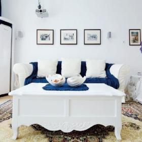 地中海清新地中海风格客厅沙发沙发套案例展示