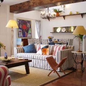 地中海清新地中海风格客厅沙发案例展示