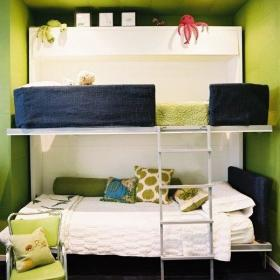 现代简约卧室儿童房上下床设计案例