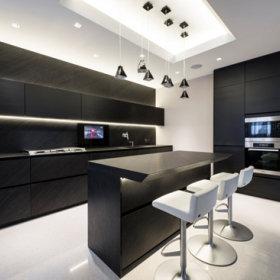 简约时尚厨房吧台设计案例
