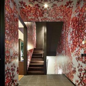 自然楼梯壁纸效果图