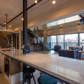 餐厅厨房吧台图片