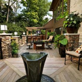 花园木质地板木地板设计案例展示